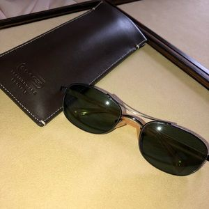 COACH Green Lenses & Yellow Arms S303 Sunglasses
